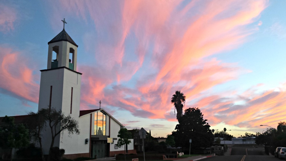 St Columba Church Sunset October 1 2015