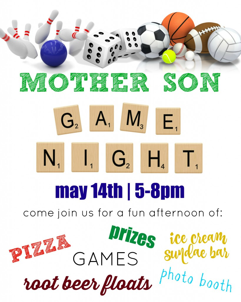Mother Son Event Flyer