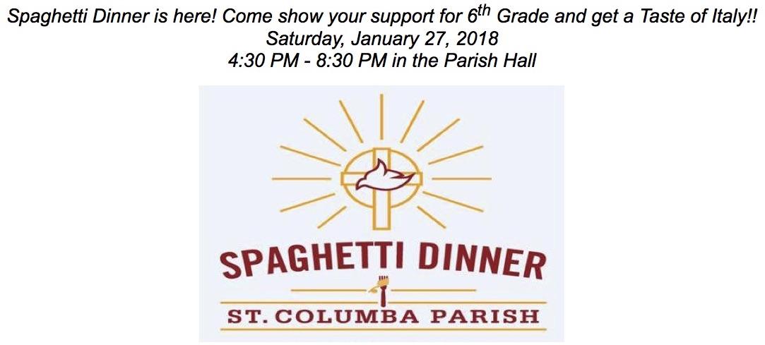 St. Columba Spaghetti Dinner 2017